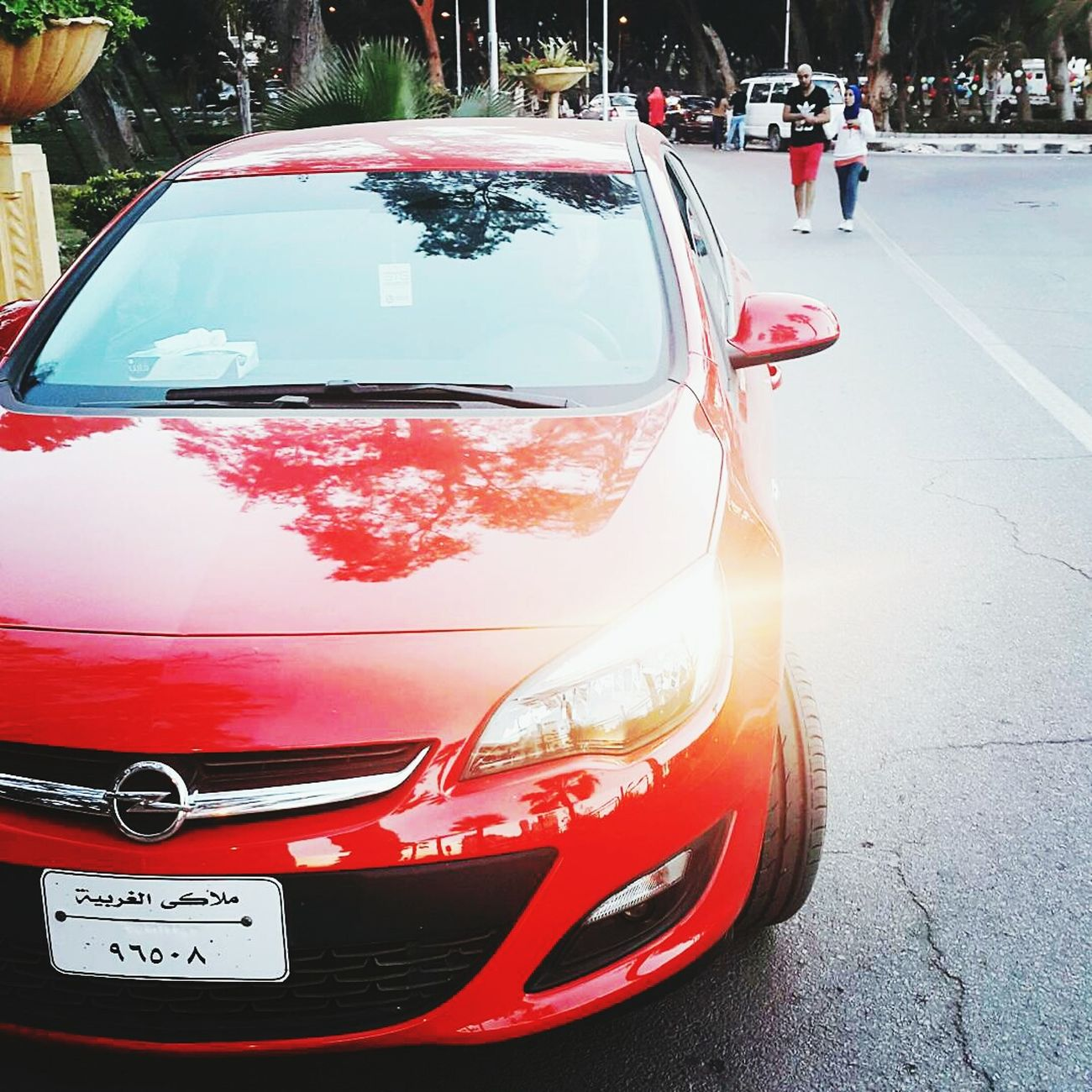 Alexandria Car Red Transportation Outdoors Day Opel Opel Astra
