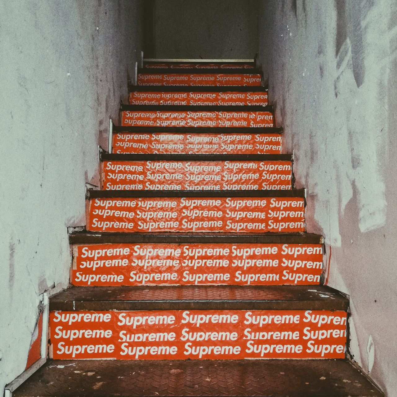 Supreme. steps and staircases indoors day supreme supremenyc streetphotography Street Life hypebeast hype highsnobiety