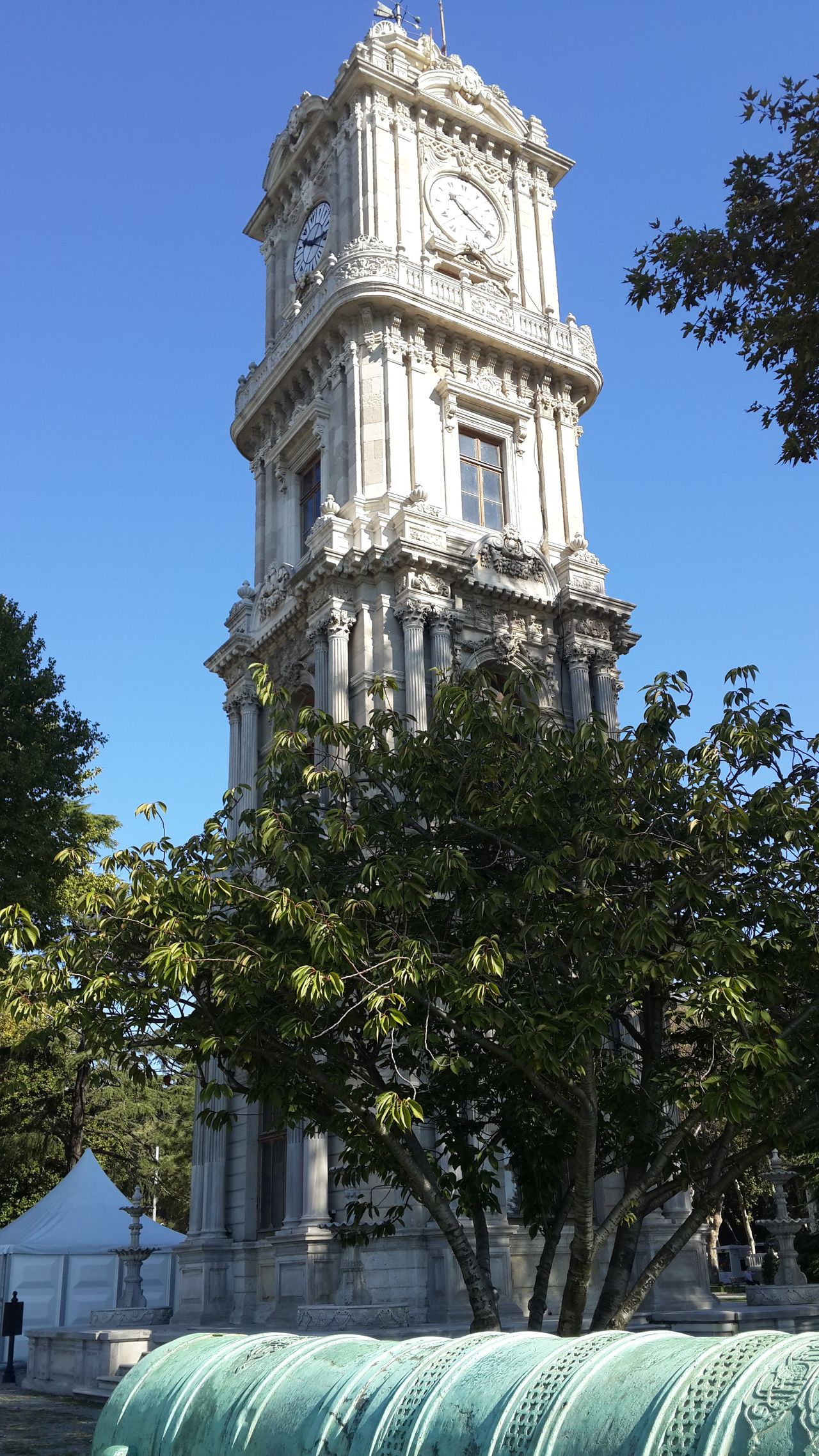 19th Century Buildings Architecture Cannons Clock Tower Day Dolmabahce Palace Dolmabahçe Sarayı History Istanbul No People Outdoors Palace Tree Turkey Weapons Of War