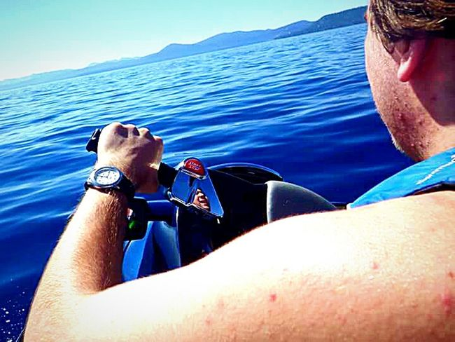 The Essence Of Summer Mountains And Sky Water Sierra Nevada Mountains Vacation Time ♡ Clear Blue Water Outdoor Photography Taking Photos ❤ Lake Tahoe Water Photography Waterproof Camera Lake Tahoe Water Sports My Happy Place  Mother And Son Jet Skiing Having Fun With Kids My Son ❤ Mirror Reflection Mirror Image Water Sports