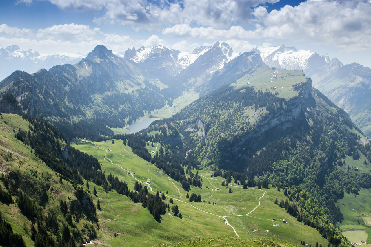 Alpstein Appenzellerland Awe Beauty In Nature Landscape Landscape_Collection Majestic Nature Mountain Mountain Range Nature Nature No People Outdoors Scenics Switzerland