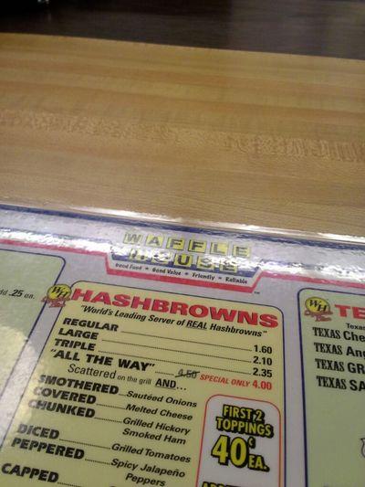 Late night waffle house