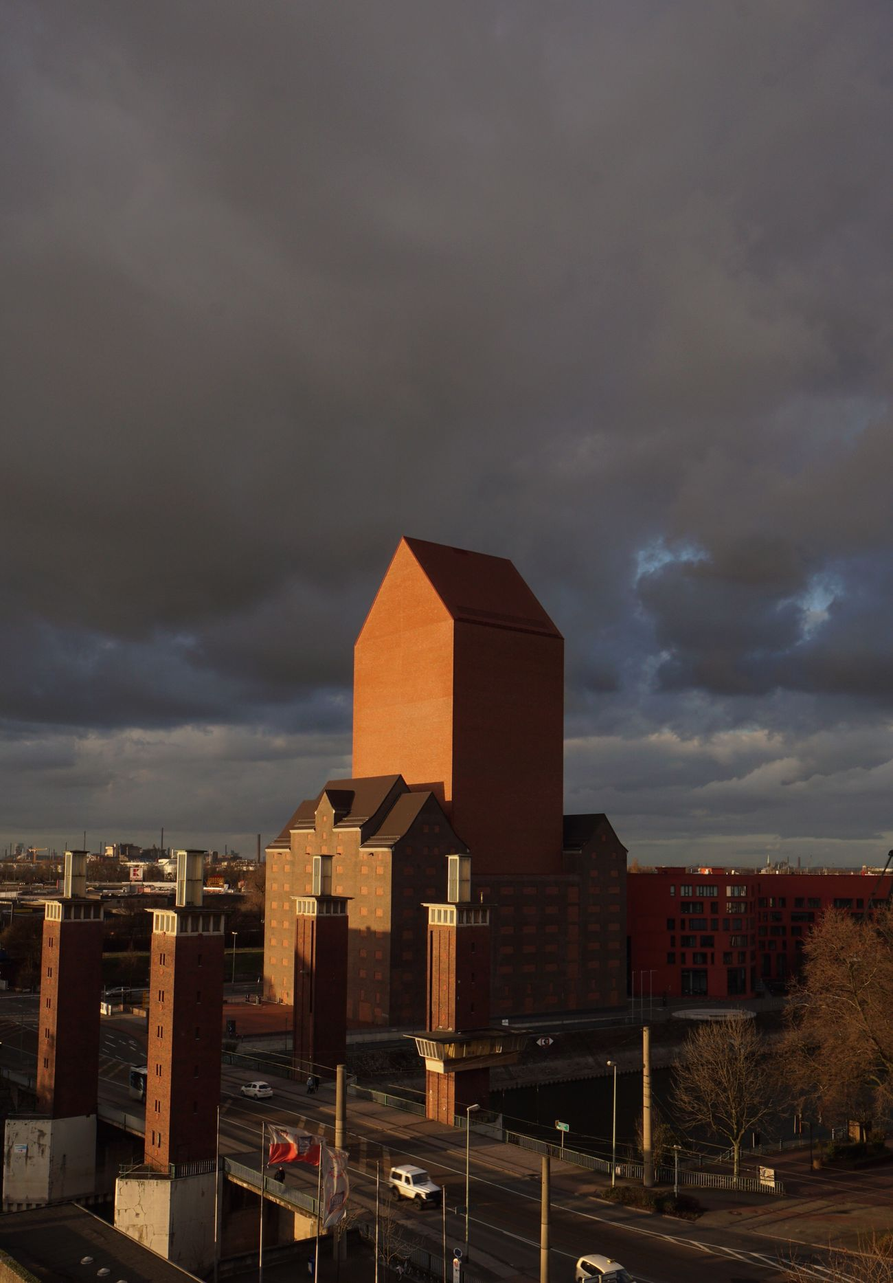 Evening mood ☀️ Architecture Sky Building Exterior Cloud - Sky City No People Built Structure Outdoors Sunset Cityscape Day Dramatic Sky Duisburg Duisburg Innenhafen Brick Brick Wall Brown