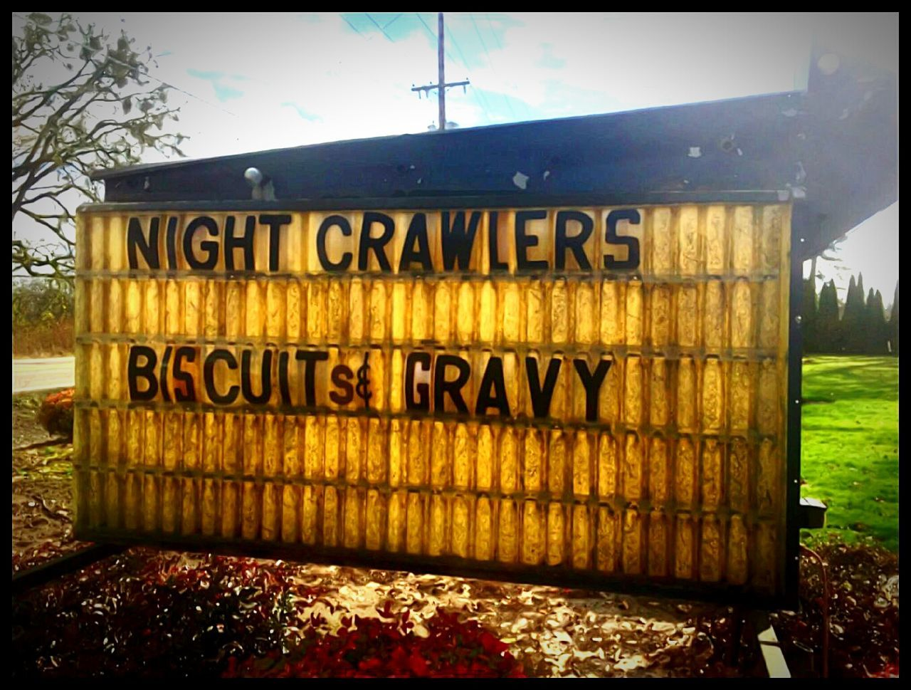Mmmmm yummy Text. Slimmer. Biscuits And Gravy Communication Sunlight Worm On Eyem Fishing Bait Gone Fishin' DiggingIdyllic Streemzoofamily Focus On Foreground Beautiful Oregon Getty Images EyeEm Gallery Oregonexplored Vacation Destination Travel Destinations Capturing Magic Funny Signs Funny Sign