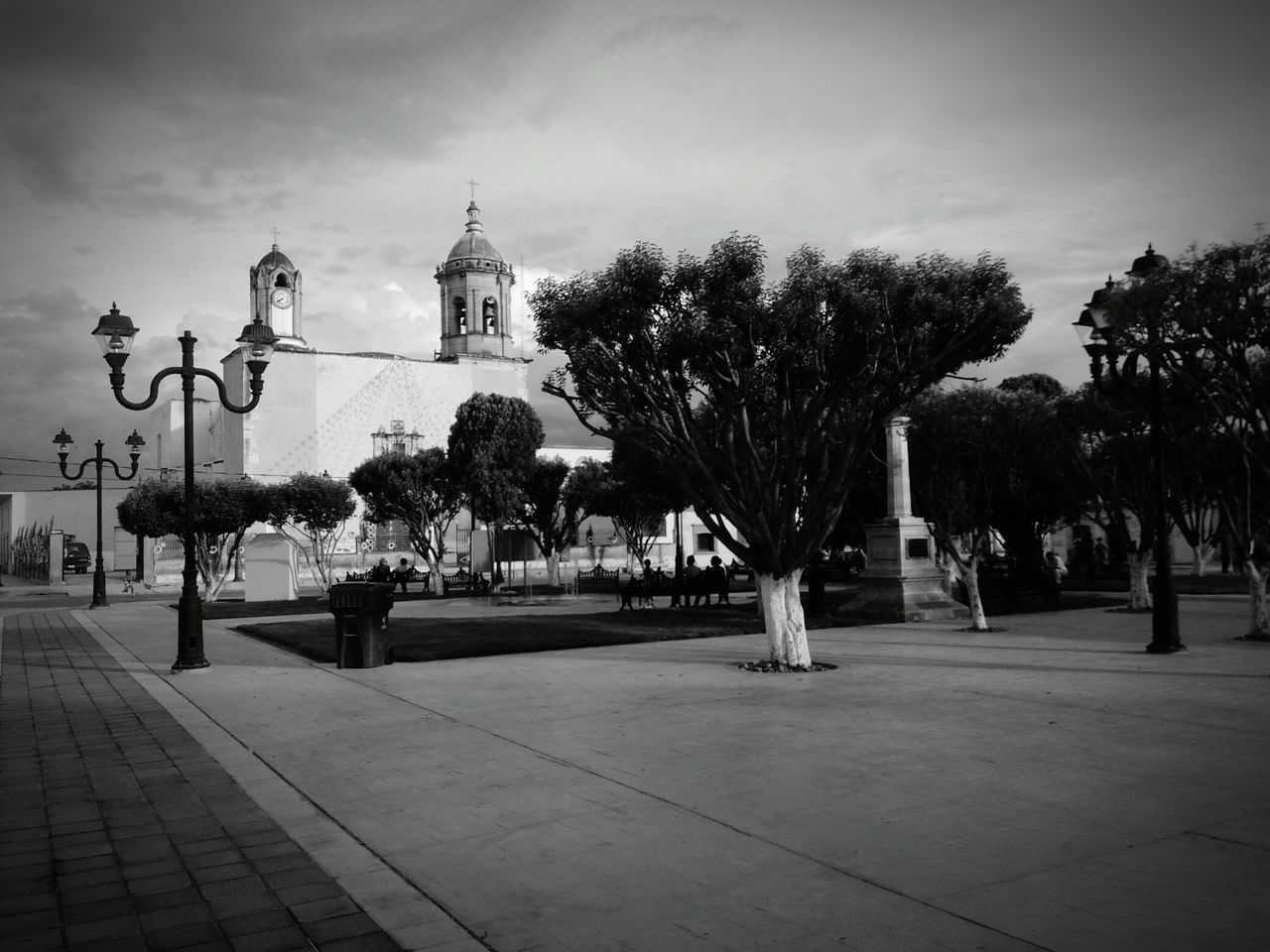 Plaza Park Mexico Durango, Durango Church EyeEm Traveling Travel Sky Little Town Colonial Blackandwhite