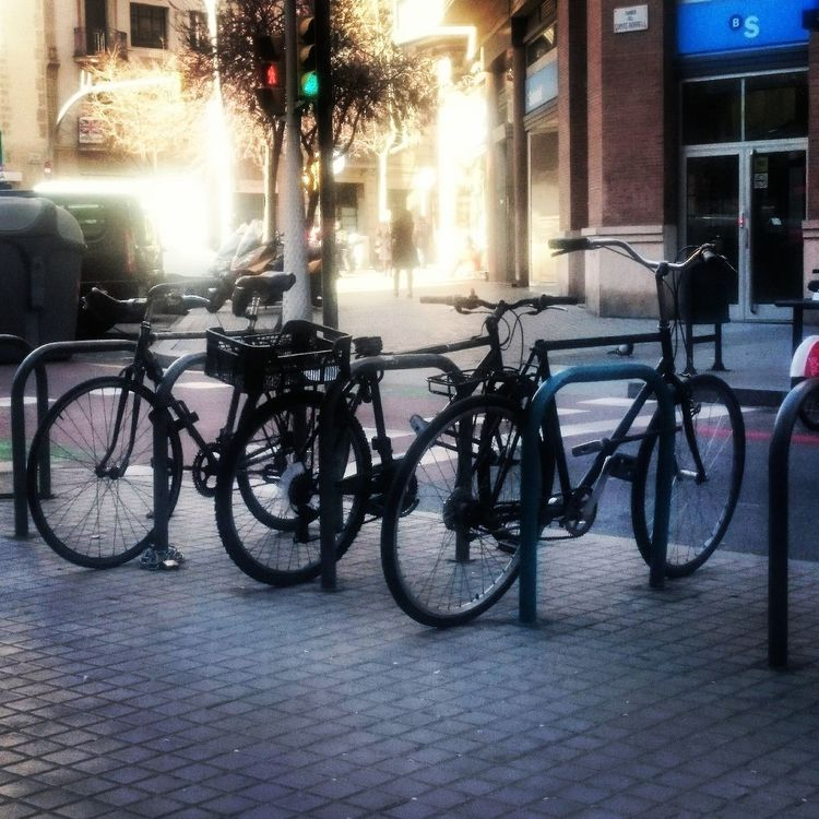 Bicycles parked on the street. Barcelona Bicycle Bicycles Bike Bikes Catalonia City City EyeEm Best Edits EyeEm Best Shots Eyeem Bicycle Eyeem Bycicle EyeEm Gallery EyeEm Street Photography EyeEm Streets Mode Of Transport Parked Parked Bicycle Parked Bike Street Street Photography Transportation