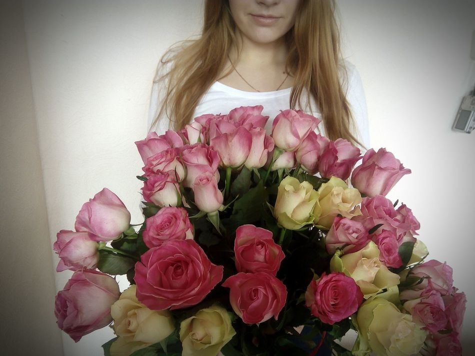 Flower Pink Color Bouquet 😍😍😍😍😘😘❤ Soon Valentine's Day