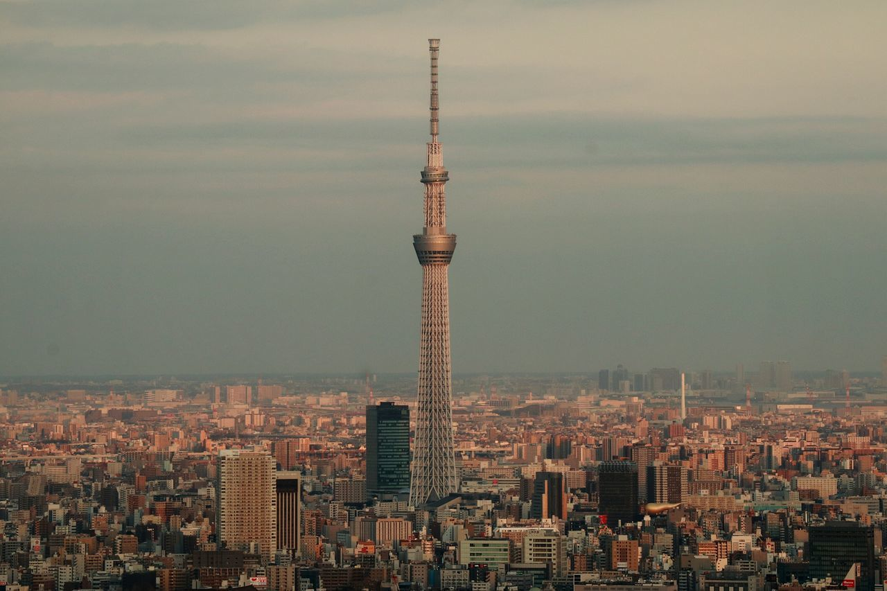 Tower Cityscape Tall - High Skyscraper Urban Skyline Tokyoskytree Skytree Japan Tokyo Landscape Urbanlandscape