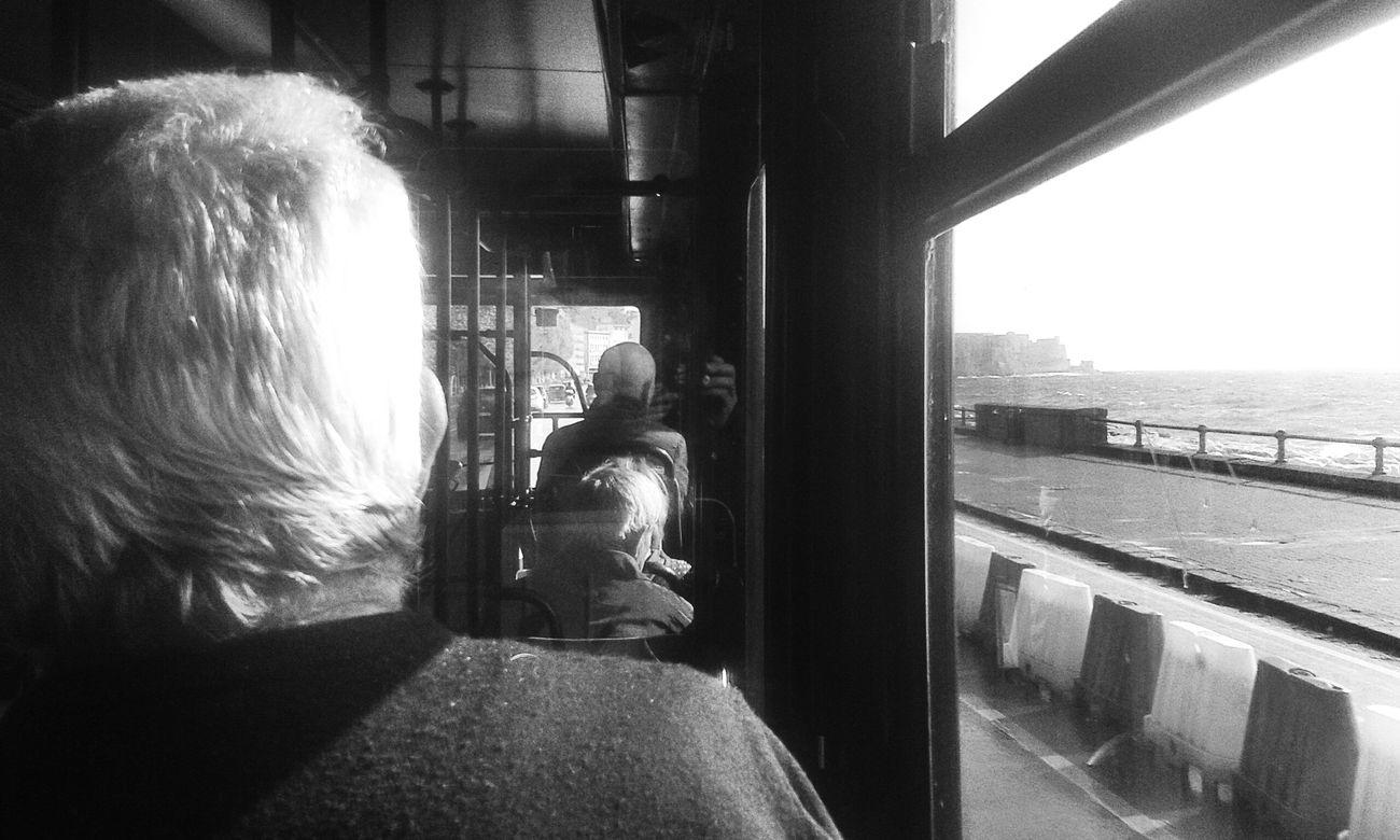 Black & White David De La Cruz Public Transportation Bus