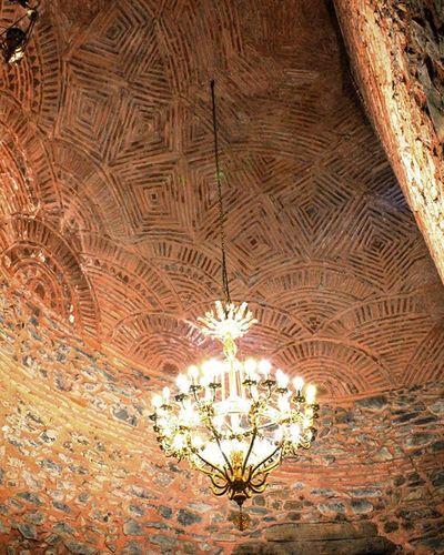 Chandelier Light Church Byzantine Saint Dimitrios Wall Details Photography Canon700D Thessaloniki Greece Skg