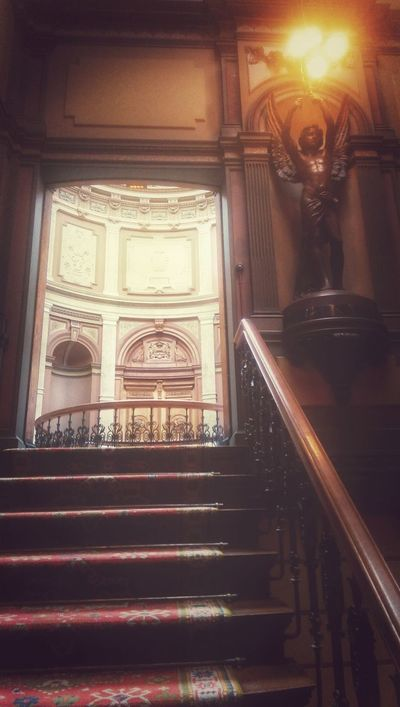 Indoors  Staircase Ornate Arts Culture And Entertainment Steps And Staircases No People Spirituality Statue Architecture Day Steampunk