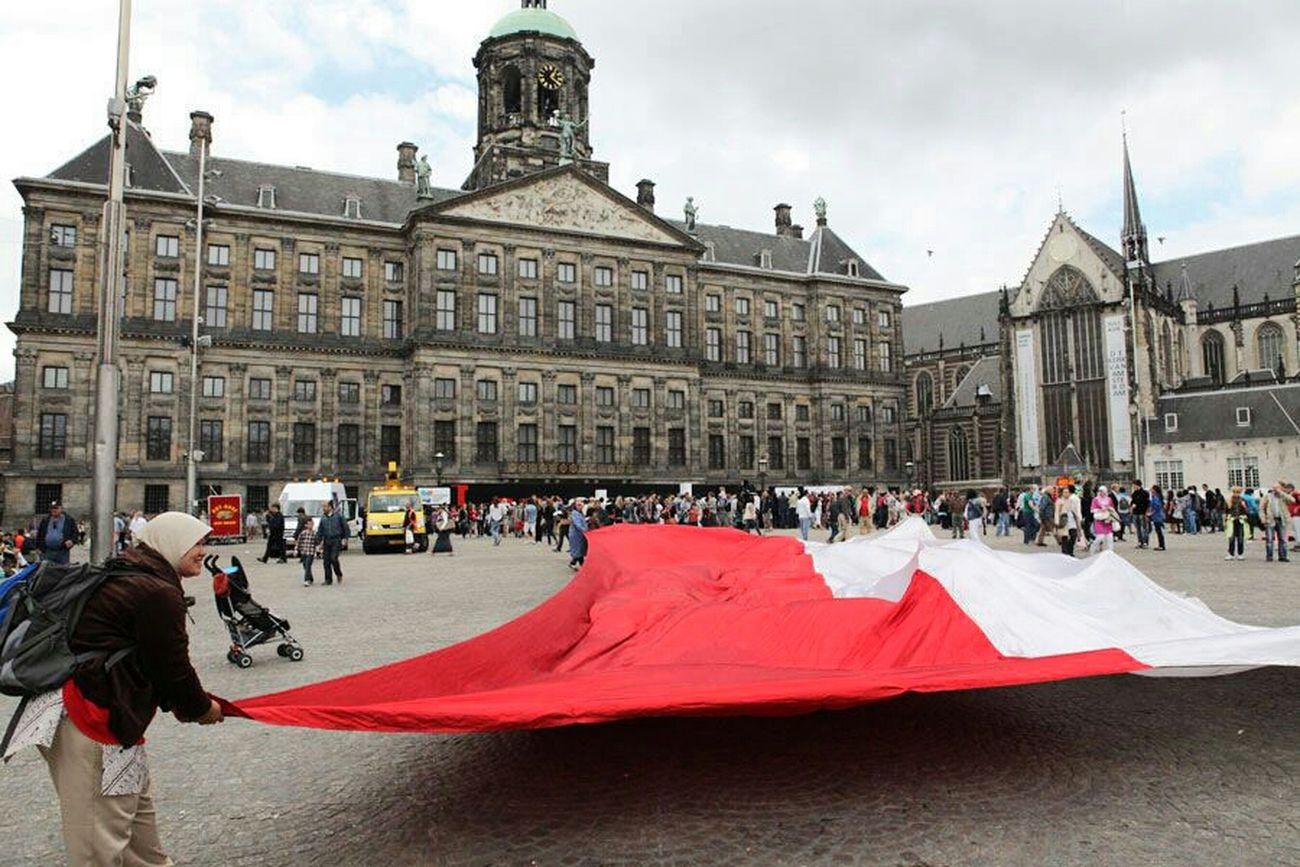 I Love Indonesia Nederland Flag Hello World