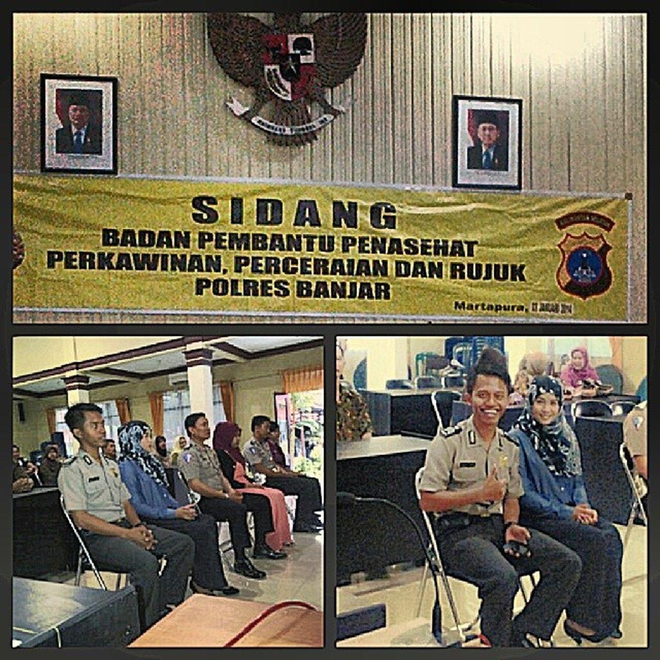 Sidang pernikahan at Polres Banjar w/ my future husband @harryanton Instalike Instawedding Instabanjar Instabungas instadaily