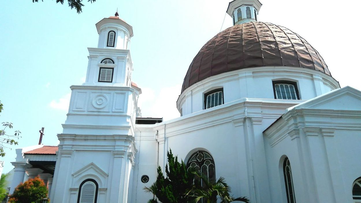 Semarang's icon: Blendoeg Church Religion Place Of Worship Dome Travel Destinations Architecture City Sky No People Outdoors Day Megastructure Iconic Buildings