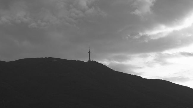 One tower to rule them all Cloud - Sky Cloudy Monochrome Photography Mountain Mountain Peak No People Sunset TV Tower Vitosha Mountain