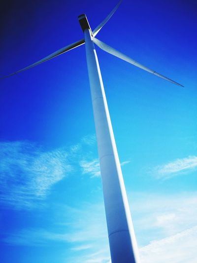 Energy Blue Sky Wind Power Low Angle View Alternative Energy No People Day Windmill