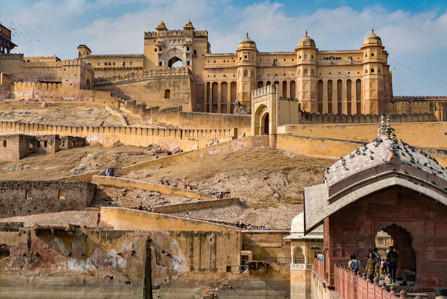 High Resolution Impressive India Jaipur Travel Traveling Amber Fort Fort Fortification Fortified Wall Fortress Imposing Rajasthan Travel Destinations