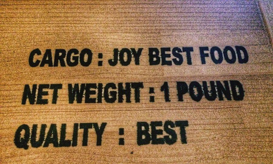 Best food is Joy Food Is Joy Food Cargo Quality Food Best Quality Best  Food Text Communication No People Textured  Indoors  Close-up Food Stories