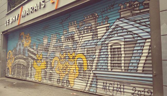 Streetart Monsieur Chat