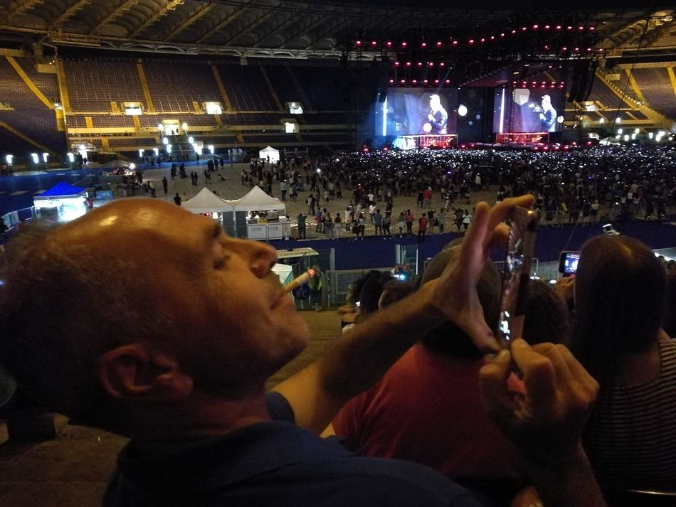 Tiziano Ferro Tour 2017 Stadio Olimpico 30/Giugno/2017 The Purist (no Edit, No Filter) Arts Culture And Entertainment Capture The Moment Rome Italy🇮🇹 Color Photography Live Event Performing Arts Event Music Night Illuminated People Fan - Enthusiast Adult Only Men Nightlife Men Music Crowd Adults Only Alcohol Indoors  Popular Music Concert One Man Only