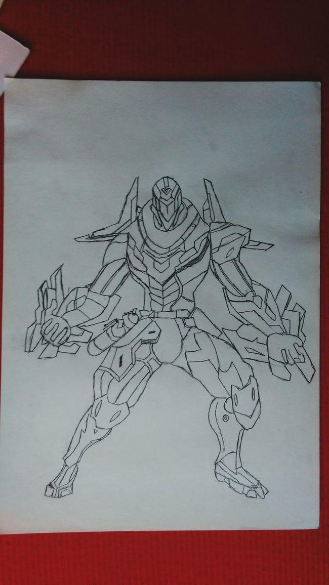 Done,my Dear Main Zed Art, Drawing, Creativity Pencil Drawing Project Zed LeagueofLegends League Of Legends