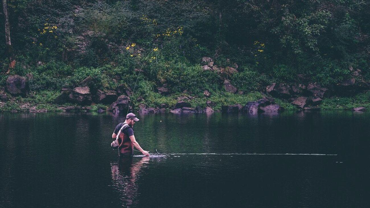 Fly Fishermen Fishing Fisherman River Water Catch Tn Outdoors