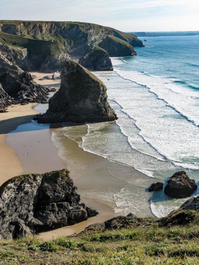 Bedruthan Steps, Mawgan Porth, Cornwall Kiomi Collection Rocks Waves Clifftop Cliffs Water Sea Beach Mawgan Porth Bedruthan Steps Cornwall United Kingdom