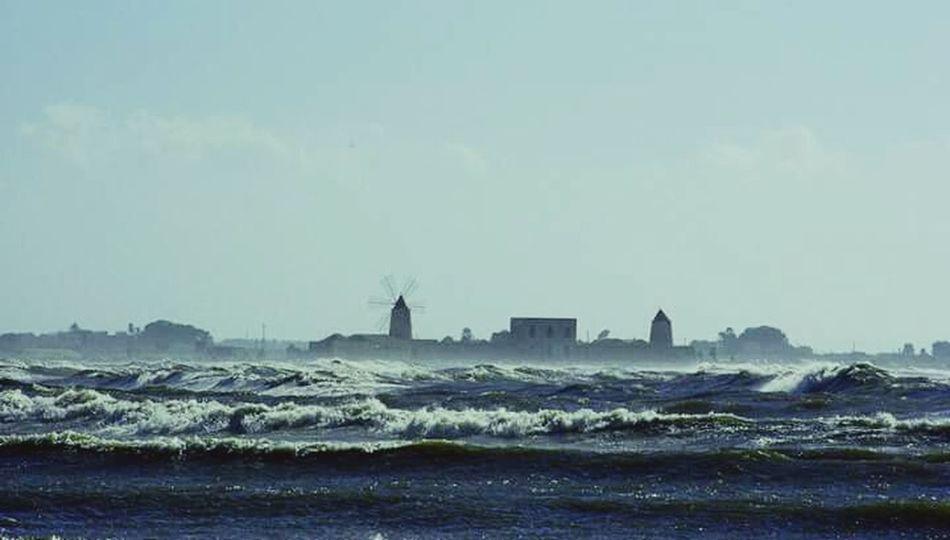 La tempesta tra i mulini Storm Onde Sea Mare Tempesta