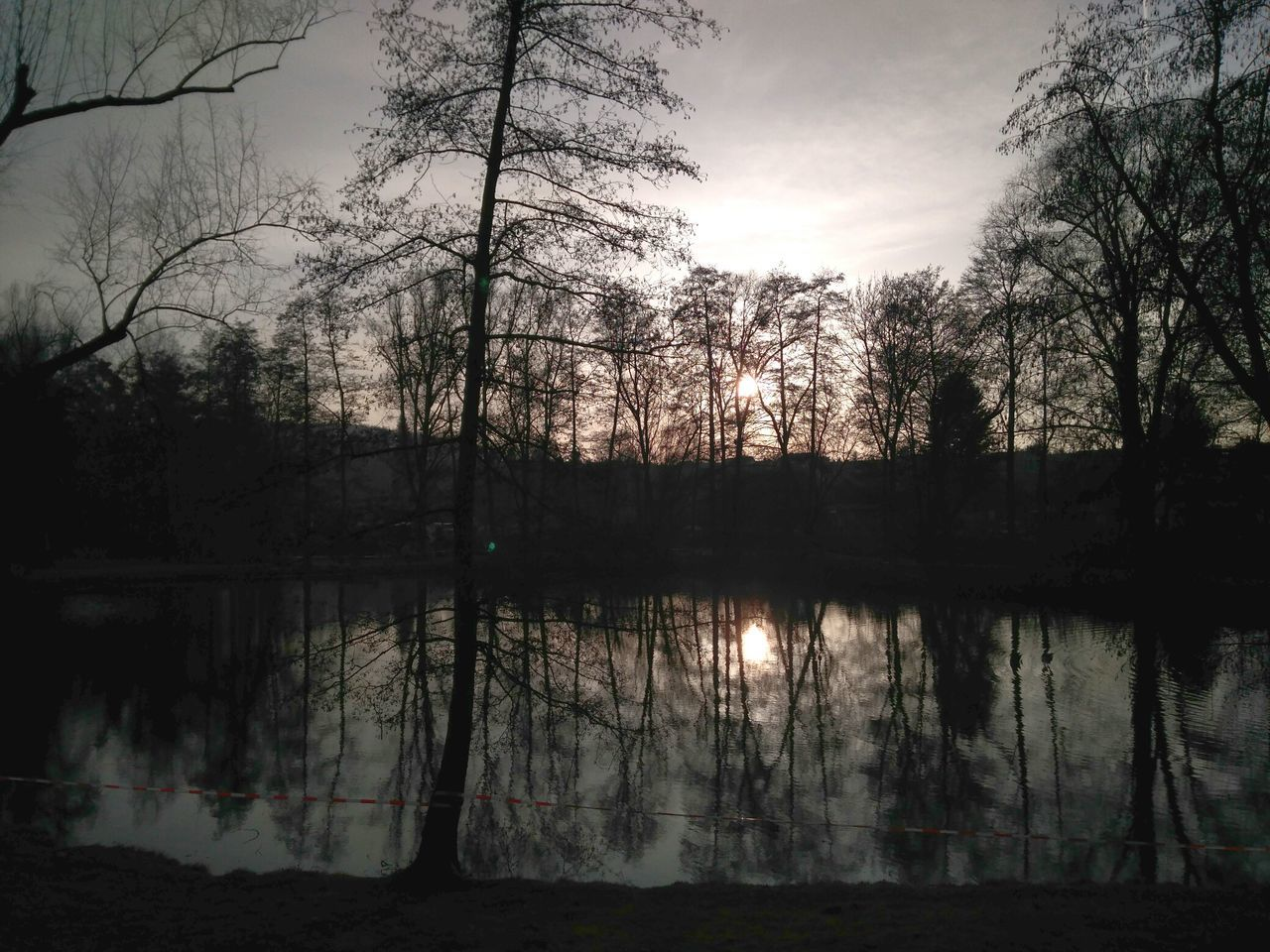 Reflection Sunset Nature Silhouette Water No People Lake Outdoors Beauty In Nature