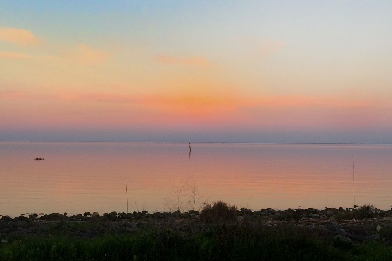 Sunset Beauty In Nature Nature Sea Tranquility Sky Scenics Horizon Over Water No People Water Tranquil Scene Outdoors Day