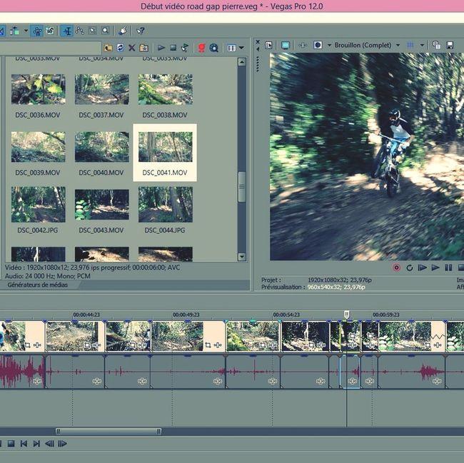 Edit en préparation ! SonyVegasPro Freeride