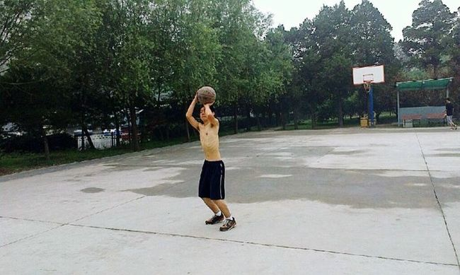 This photo I took last summer. I was really a thin boy! Sport That's Me Thin Basketball