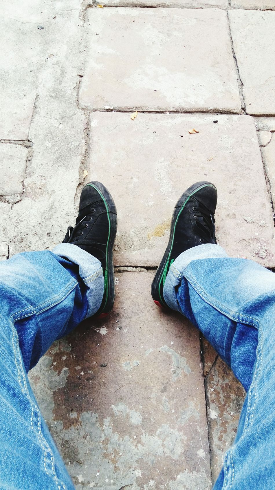 Denim Jeans Rough Day Muddy Shoes Idealism Oneself
