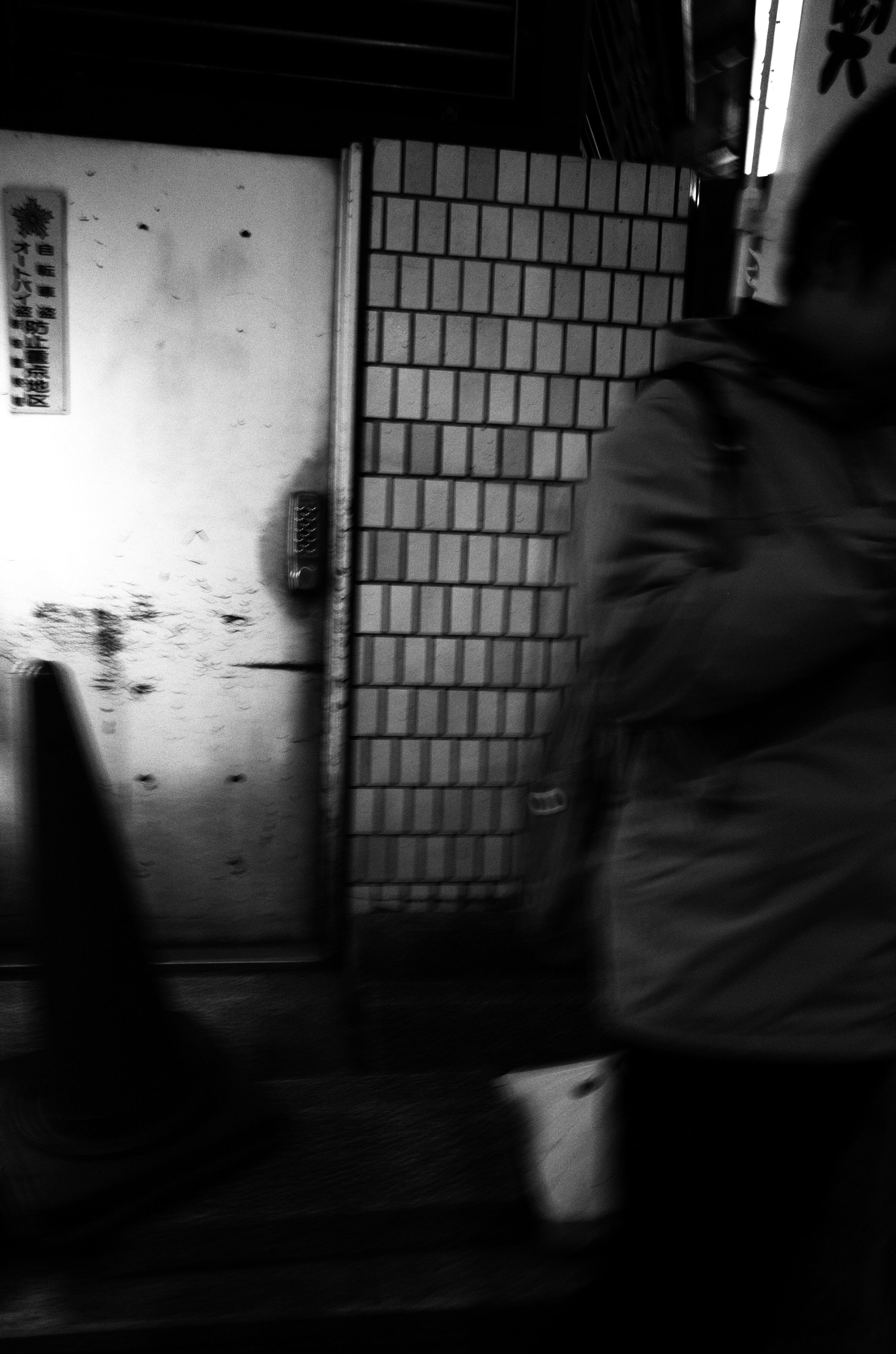 real people, blurred motion, indoors, one person, lifestyles, walking, motion, women, day, architecture, people