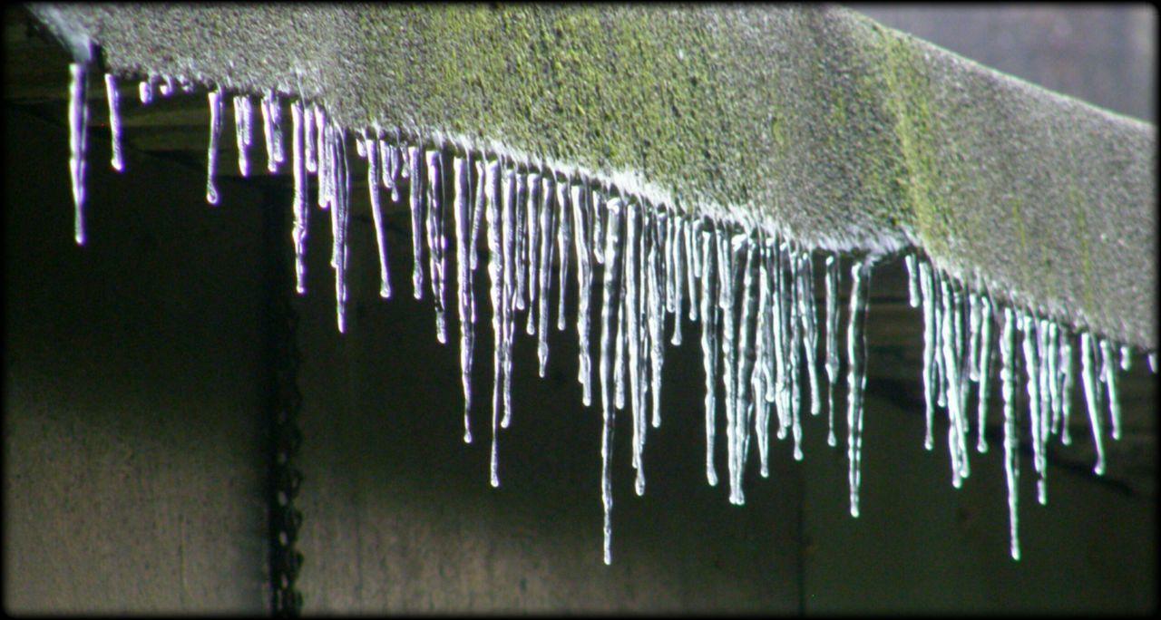 Icicles Cold Temperature Roof Outdoor Photography No People