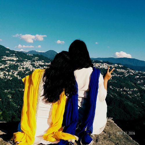 2girls Peace And Quiet Peaceful Place Peaceful View Sisters ❤ My Village RANKA😍 Gangtok Sikkim Gangtok Peace Calmness Immense Beauty♡♡