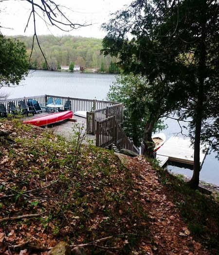 Cottage Opening Weekend Lake Dock Canoe Deck Horseshoe Lake
