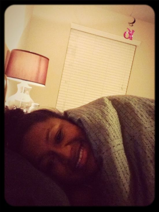 Goodnight, just me and my comforter tonight.