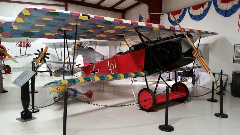 Addison, Texas Biplane Cavanaugh Museum Hanger Indoors  Multi Colored No People World War I