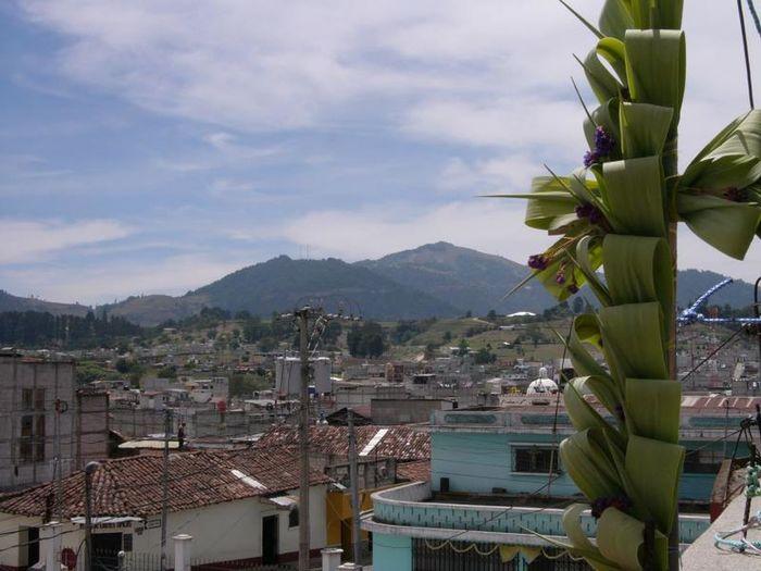 Cross Palm Salcajà Quetzaltenango Guatemala Rooftop View