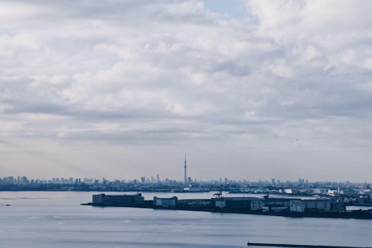 東京 東京スカイツリー Tokyoskytree Sky Cloud - Sky City Architecture Landscape Water Building Exterior No People Travel Destinations Sea Outdoors Nature Day Cityscape Cityscape City Cityscapes