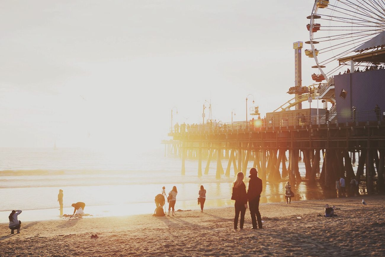 Open Edit California Santa Monica Sunset Lifes A Beach I Heart California Perpetual Summer Negative Space The Great Outdoors - 2015 EyeEm Awards