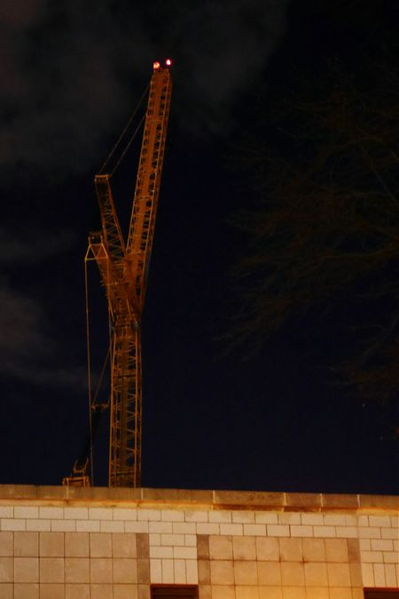 Crane at night. Nightclouds Nightphotography Cranes Construction Night Photography