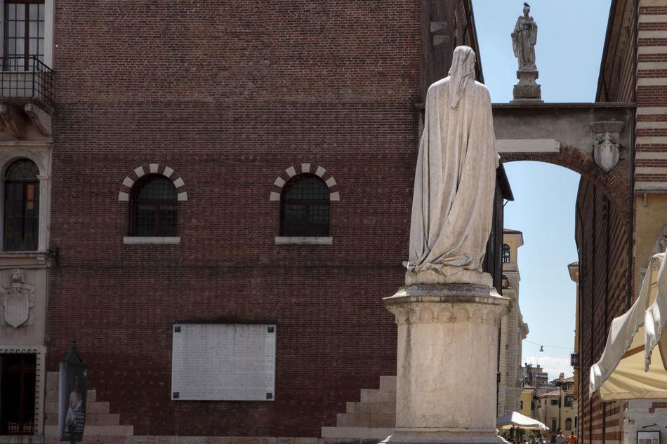 Dante square Architectural Column Architectural Feature Architecture City Dante Squa Exterior Marble Sculpture Square Statue Tourism Travel Destinations Verona Italy