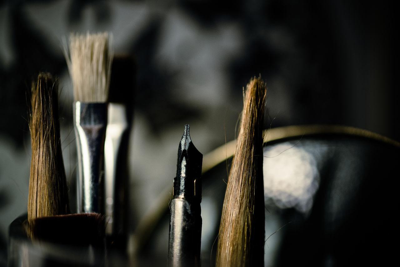 Art Art And Craft Art, Drawing, Creativity Brush Brushes Close-up Free Time Hobbies Paint Brush Scribble Still Life StillLife Craft Calligraphy Fresh On Market 2016