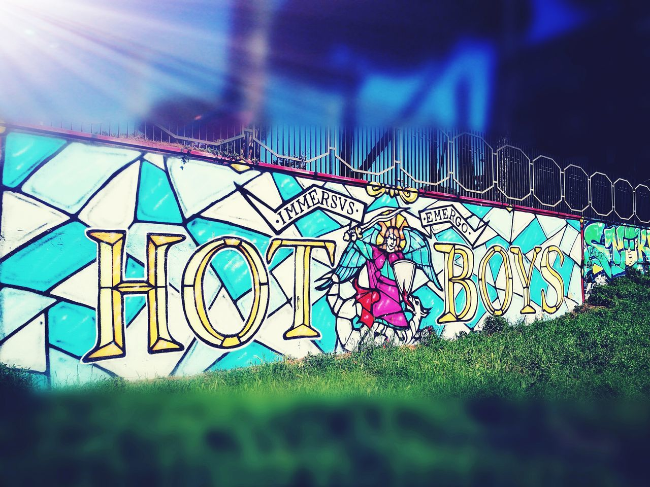 Graffiti Wall Popular Art Multi Colored Popuar Area Huaweip9photos School Outdoors No People Day