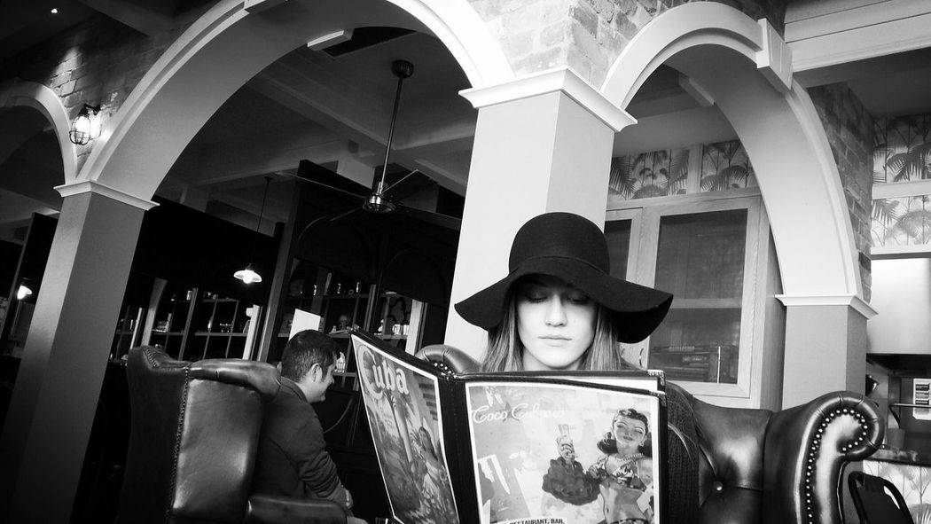 EyeEm Best Shots Melbourne Rocks Photography Reading Everything And Everywhere Bnw_friday_eyeemchallenge My Girl Black And White Menu Hat