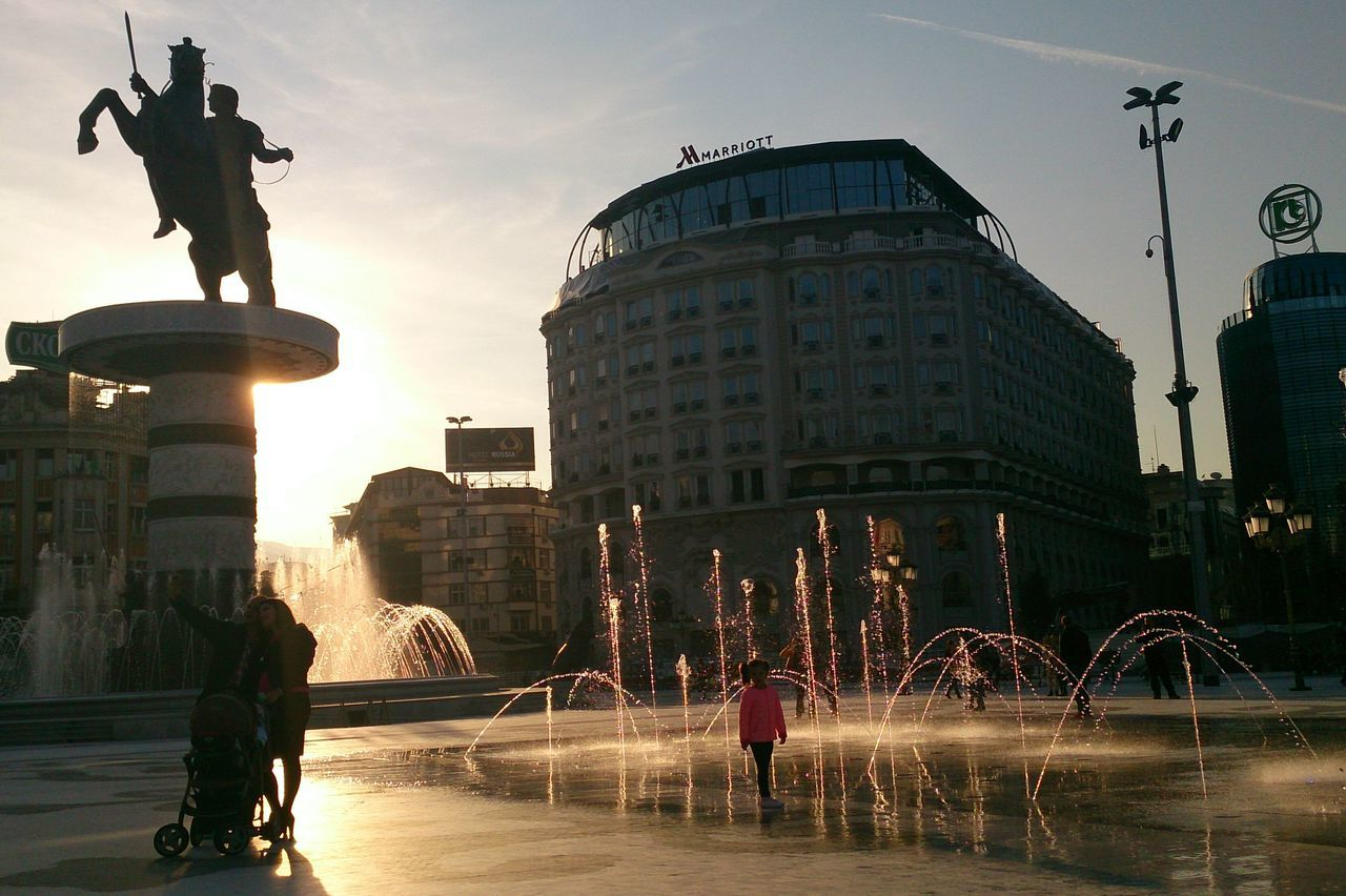 City People Outdoors Adult Statue Travel Travel Destinations History Skopje Macedonia EyeEmNewHere Monument Architecture Monuments Statue Fountain Selfie ✌ Selfie✌ Selfies Self Portrait Around The World Selfi The City Light