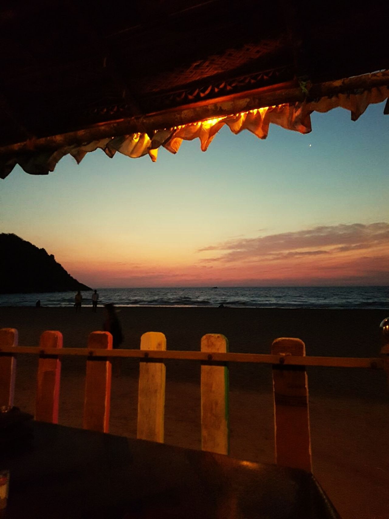 Lit sunsets. Gokarna beach .Sunset Sea Beach Travel Destinations Travel Horizon Over Water No People Landscape Outdoors Water Multi Colored Sand Mountain Scenics Day Nature Architecture Sky Astronomy Coloursofindia Travelingram Relaxing Moments Eyeem Market Indiabeaches Food And Drink The Great Outdoors - 2017 EyeEm Awards EyeEmNewHere