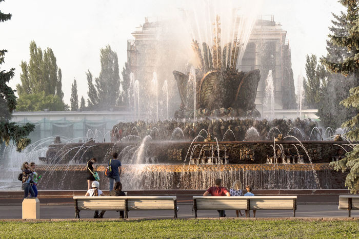 fountain of my dreams Adult Adults Only Architecture Day Fountain Large Group Of People Lifestyles Lovely Russia Men Moscow Moscow City Moscow, Москва Moskow Nature Outdoors People Real People Sky Splashing Travel Destinations Tree Water Water Park Women The City Light Sommergefühle